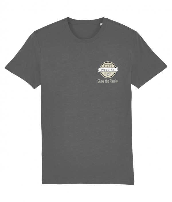 Black Pudding Club Logo Share the Passion T-Shirt Anthracite