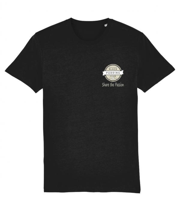Black Pudding Club Logo Share the Passion T-Shirt Black