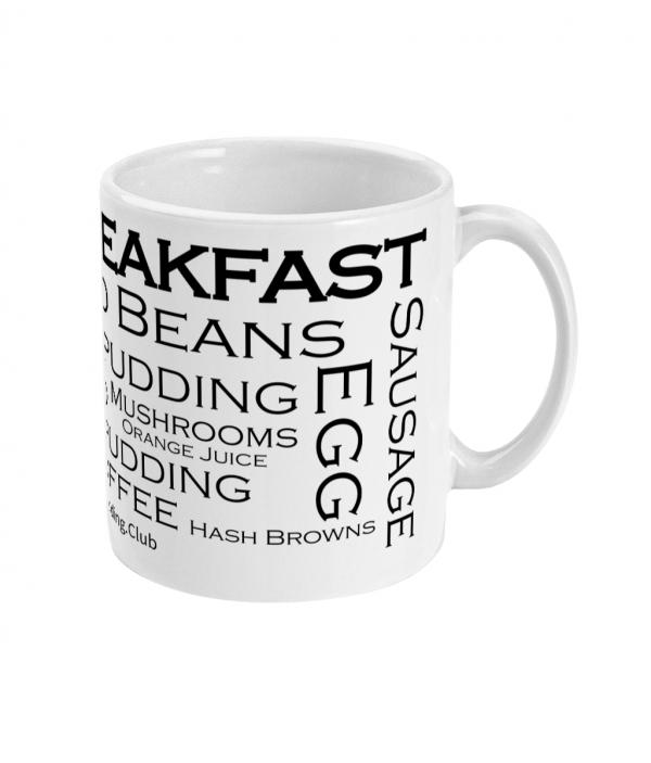 black pudding club full breakfast mug right side mockup