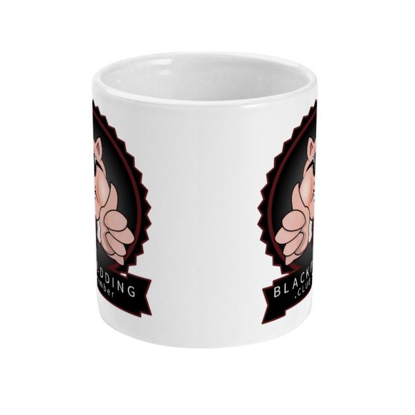 black pudding club member mug front mockup
