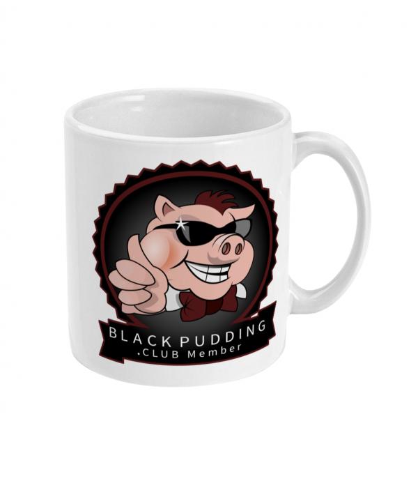 black pudding club member mug right side mockup