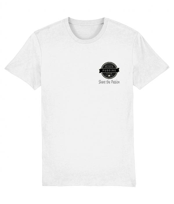 Black Pudding Club Logo Share the Passion T-Shirt White