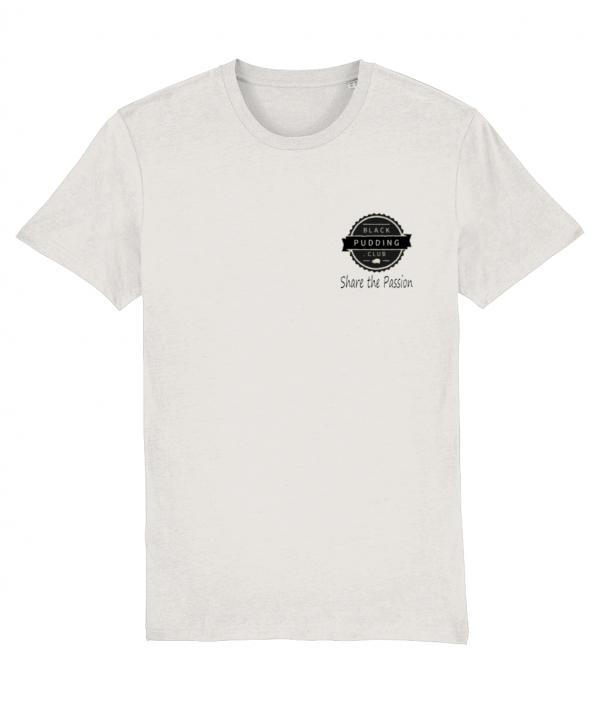 Black Pudding Club Logo Share the Passion T-Shirt Vintage White