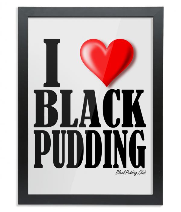 I Love Black Pudding Framed Bamboo Print