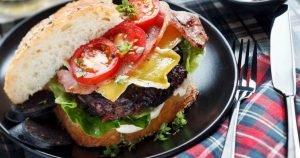 Black Pudding and Beetroot Burger