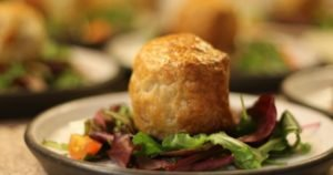 Black Pudding Goats Cheese Pie