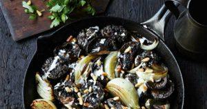 Black Pudding Mushrooms