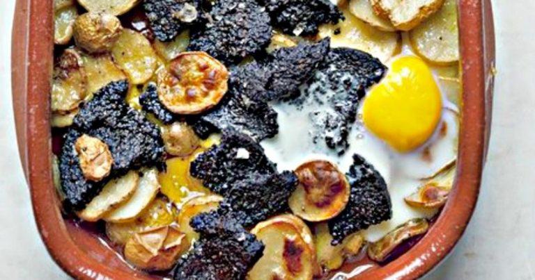 Black Pudding, Potato and Egg Bake