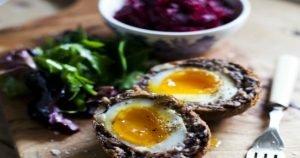 Black Pudding Scotch Eggs Beetroot Relish