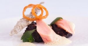 Buttered Trout Black Pudding
