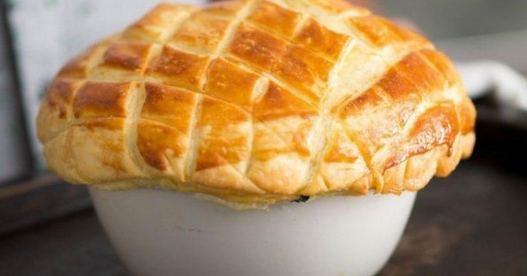 Creamy Chicken and Black Pudding Pie