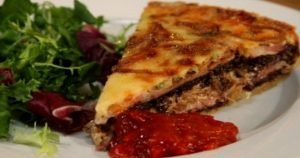 Lancashire Tart with Black Pudding, Onion and Bacon | Andy Bates