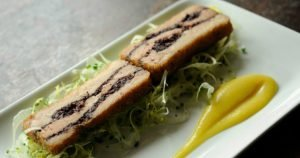 Pork Belly & Black Pudding with Apple Puree