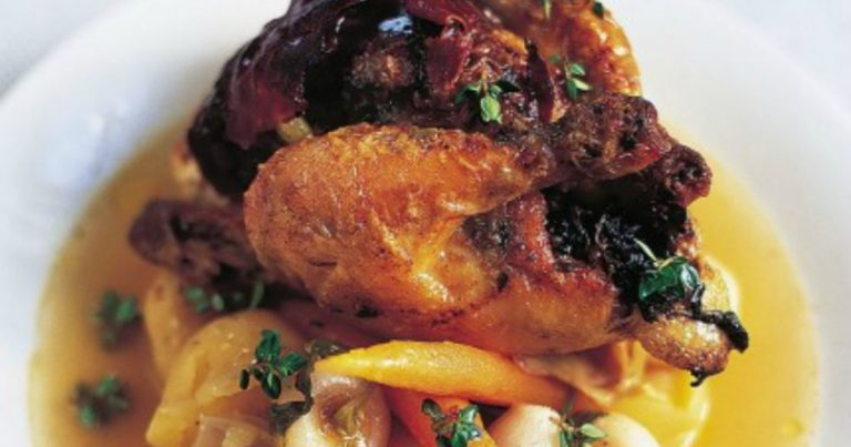 Poussin with Black Pudding