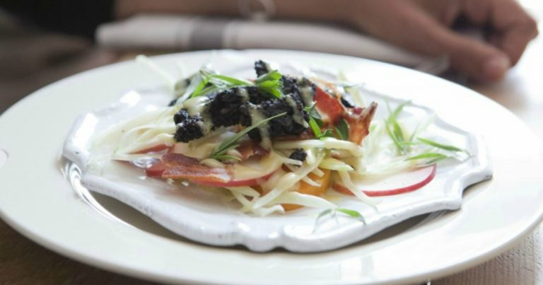 Roast Pumpkin Salad Bacon Black Pudding