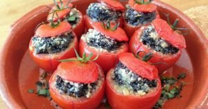 Scottish Stuffed Tomatoes with Black Pudding