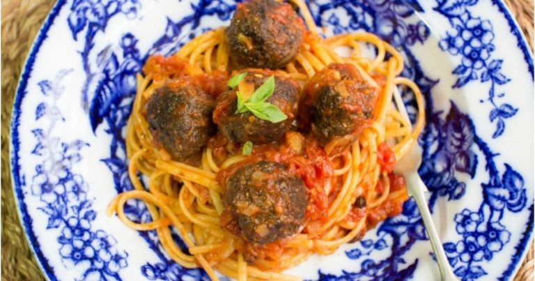 Spaghetti Black Pudding Meatballs